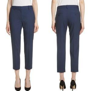 THEORY Navy Treeca 2 Good Wool Crop Suit Pants